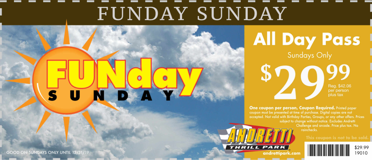 Special Offers - Andretti Thrill Park